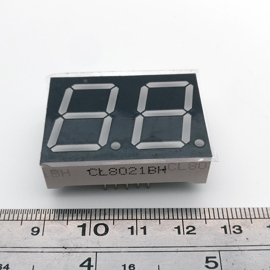 ヾ(^▽^)ノ10 unids 0.8 pulgadas 2Bit pantalla LED tubo digital 35.8 ...
