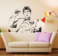Famous Tony Montana Scarface Movie Wall Decal Wall Sticker ...