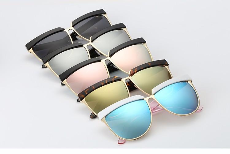 5893199660d87 ROZA Óculos De Sol Das Mulheres de Verão Estilo de Design Da Marca de Luxo  Espelho Eyewear Frame Colorido Óculos de Sol Com Caixa UV400 QC0401