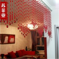 Red Bead curtain crystal bead curtains home decor hanging