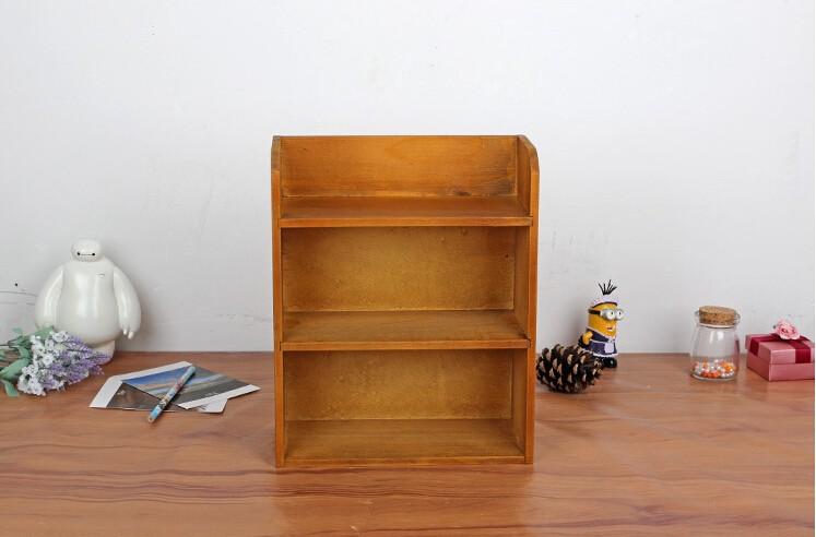 ᗜ LjഃMini madera antigua plataforma de almacenamiento de juguete ...