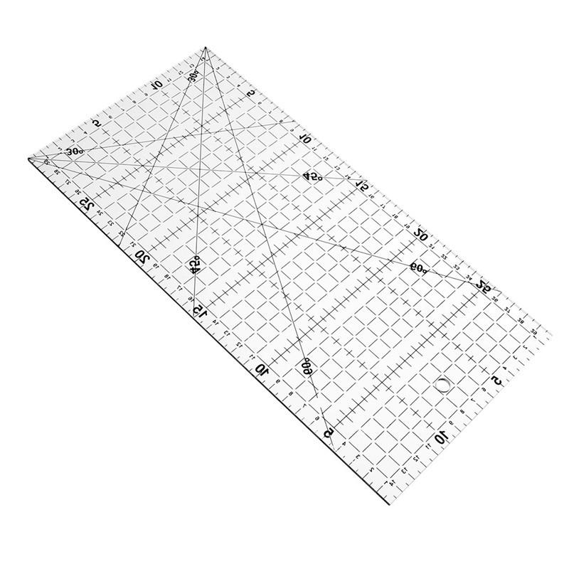 Kicute Costura gobernante patchwork 3mm gruesa transparente ...