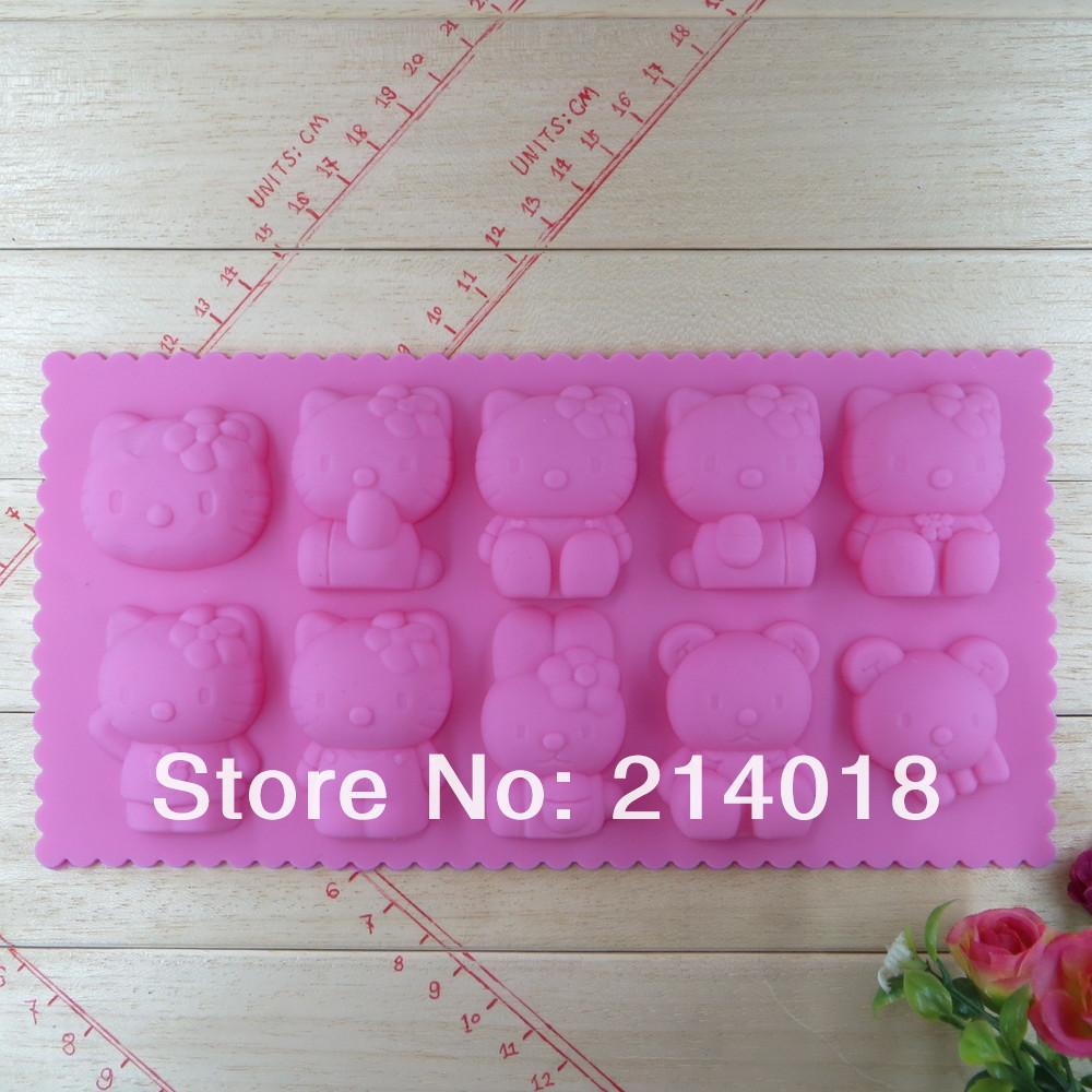 ⊹Envío libre gatito 10 modelado de chocolate decoración de la torta ...