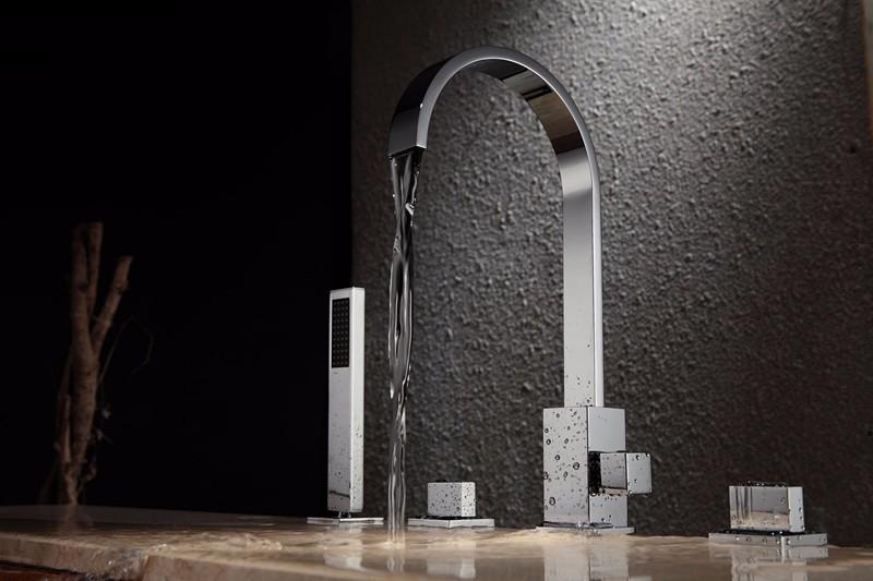 Vasca Da Bagno Doppia Dimensioni : ᐂquattro pecs kit miscelatore vasca da bagno con doccia in ottone a