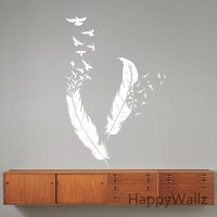 Feather-Wall-Stickers-Feather-Wall-Decal-DIY-Modern-Vinyl ...