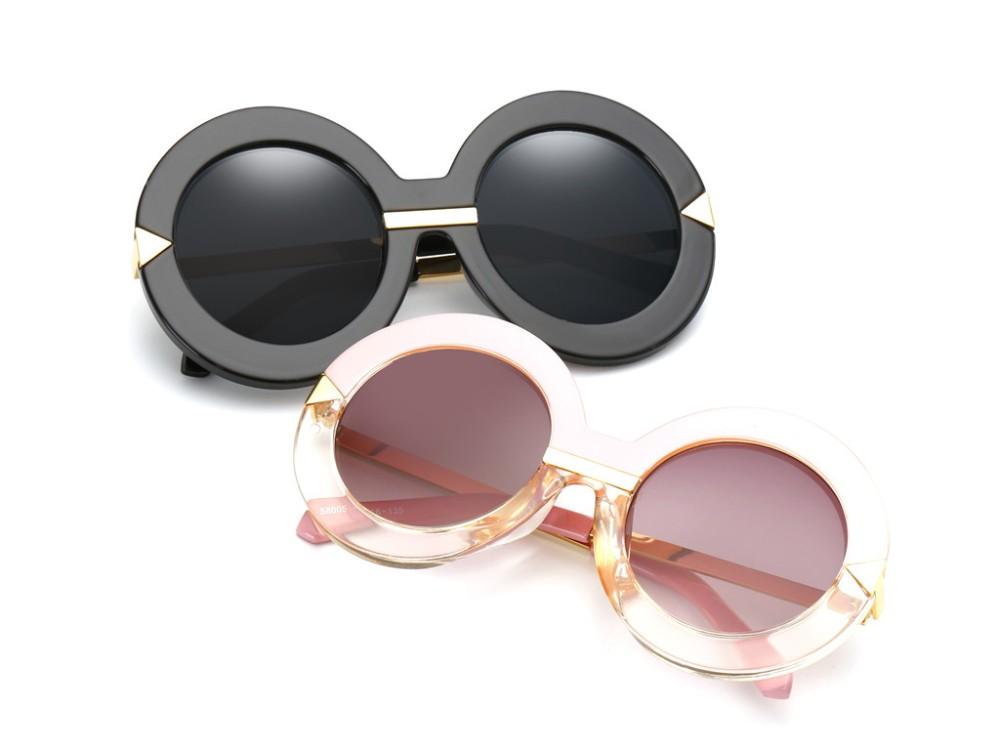 LONSY Rodada Do Vintage óculos de Sol Das Mulheres Designer De Marca Óculos  de Sol Da Moda Para As Mulheres Verão Retro Gafas Oculos CJ58005 375bde2fcd