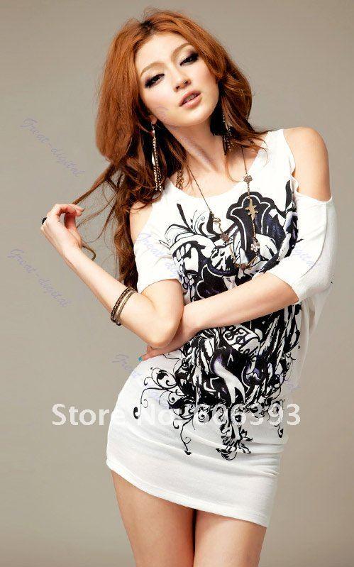 ᗑJ87Free Shipping 3pcs lot Women Sexy Cotton Casual Off Shoulder ... 19b2619c2b2d