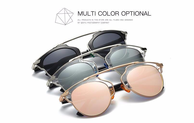 Мода 2017 г. кошачий глаз Солнцезащитные очки для женщин Для женщин Винтаж  Брендовая Дизайнерская обувь Cateye розовое золото зеркало Защита от . 01d4e241d9a