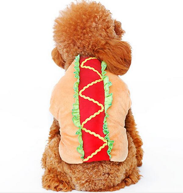 Hamburger Dog Costume Buy Pet Hot Dog Hamburger Clothes Dog Cat