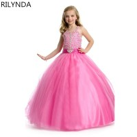 toddler girl dresses pink pageant ball gown for girls ...