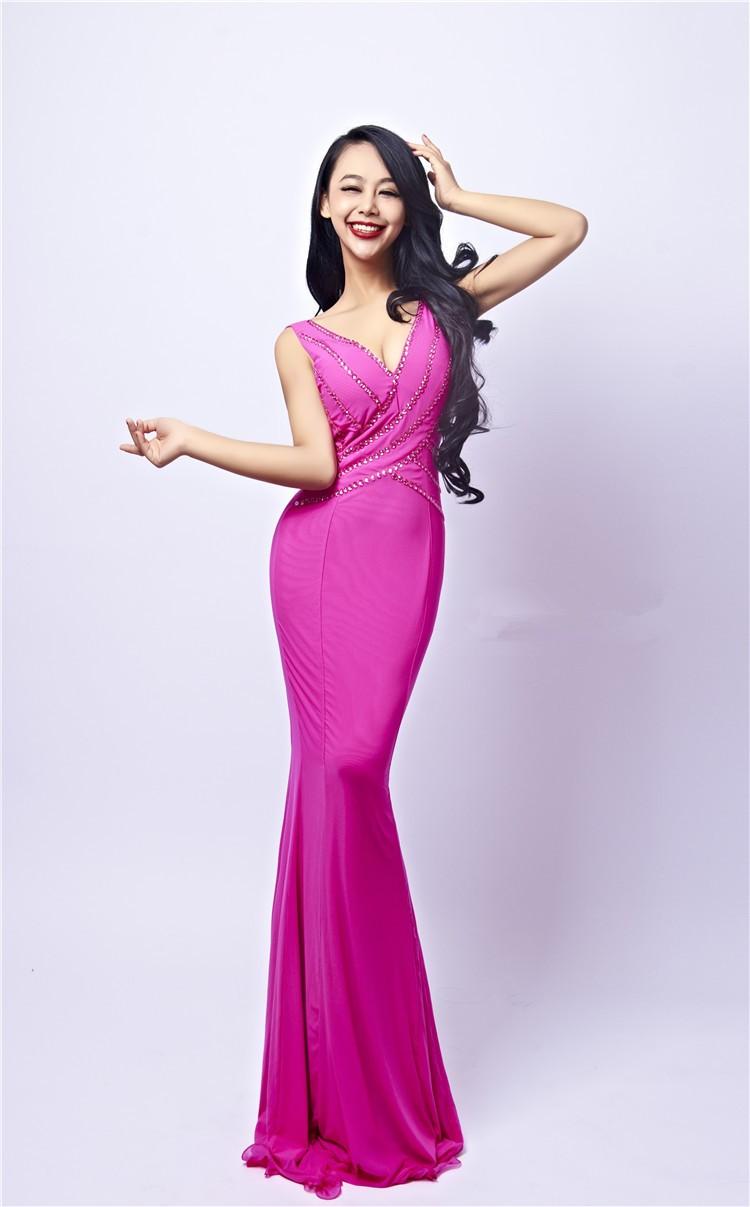 ᗖ2017 Jersey Crystal Vestidos Del Partido de Noche Largos vestidos ...