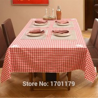 European high grade plaid tablecloth round coffee table