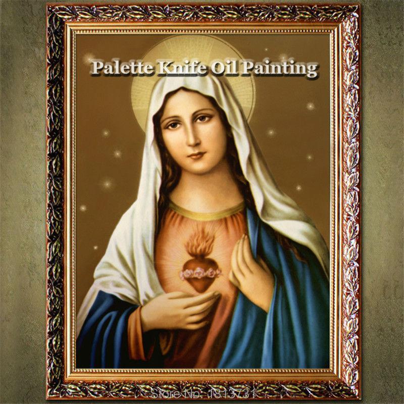 ▻Decoración para el hogar Jesus Christ Virgen María sosteniendo el ...