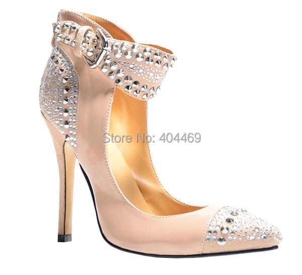 2015 Fashion Rhinestone High Heels Sapato Women Pumps