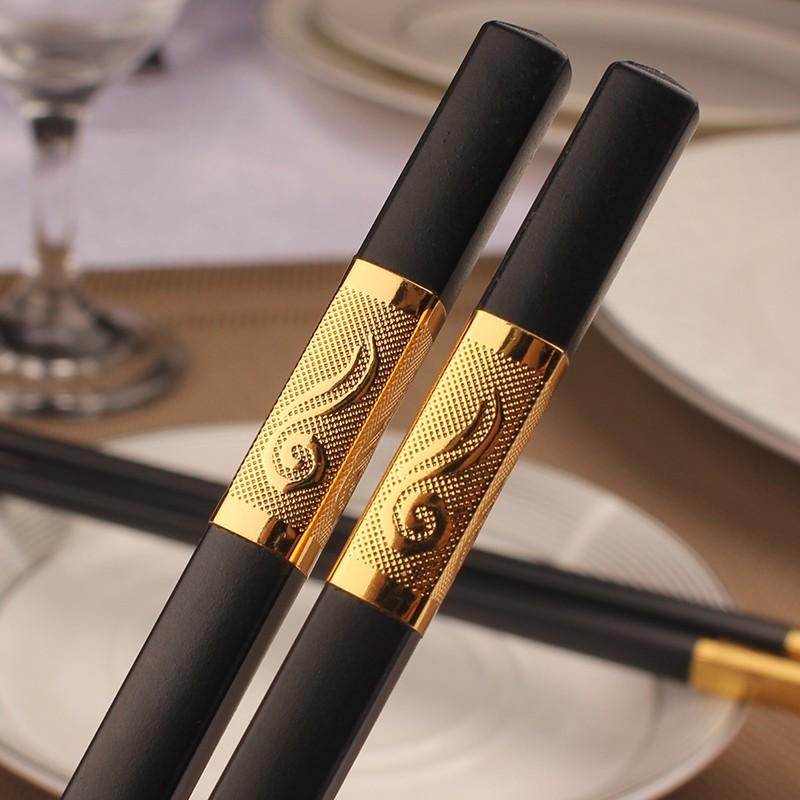 1//5//10 Pairs Chinese Non-slip Design Chop Sticks Stainless Steel Chopsticks CE
