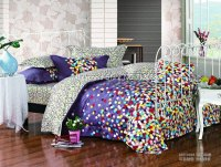 brand new colorful polka dots pattern purple background ...