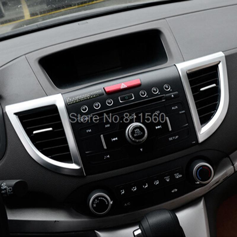 For Honda CRV CR V 2012 2013 2014 2015 ABS Matte Interior Air Condition  Vent Outlet CD Video Cover Trims Auto Parts 7pcs