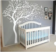 A045 White Tree Wall Decal Huge Tree Wall Decal Wall Mural ...