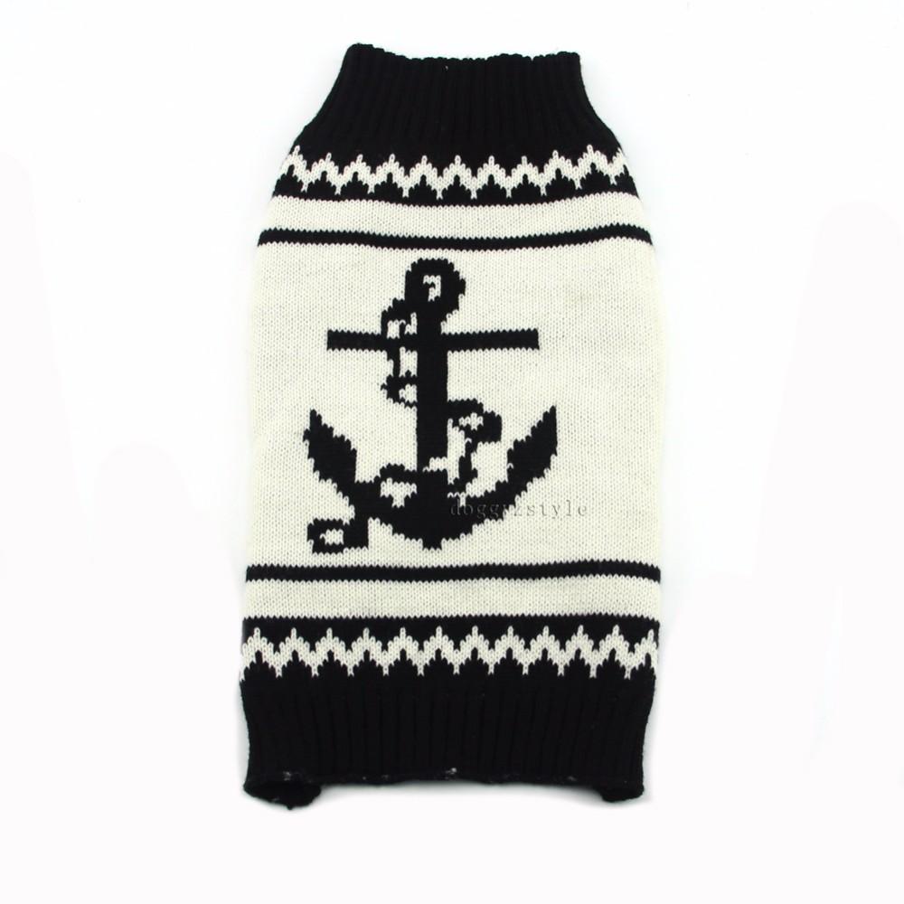 ̀ •́ 1 unidades poliéster moda ancla ropa de perro suéter de perro ...