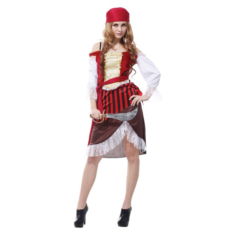 new pirate female temptation sexy costumes dress sexy model women pirate costume halloween costumes dress for 155 170cm