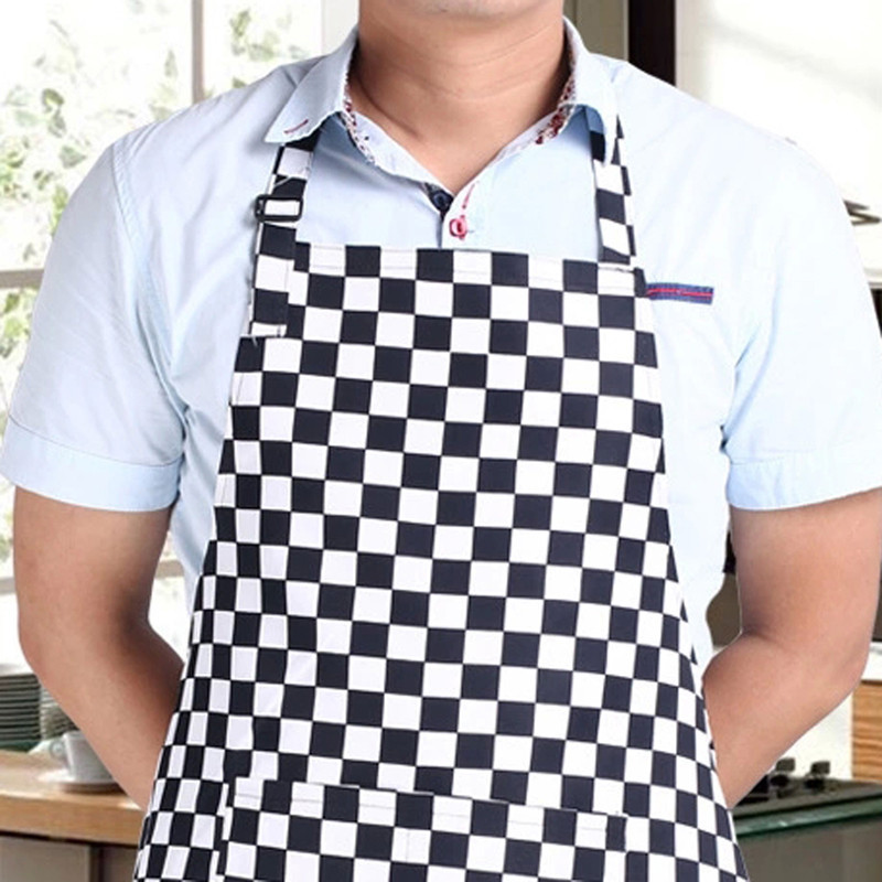 ᗔStripe Bib Avental com 2 Bolsos Chef Garçom Cozinheiro Cozinha ... db4091f00253c