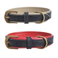 Designer New Genuine Leather Soft Padded Small Dog Collar