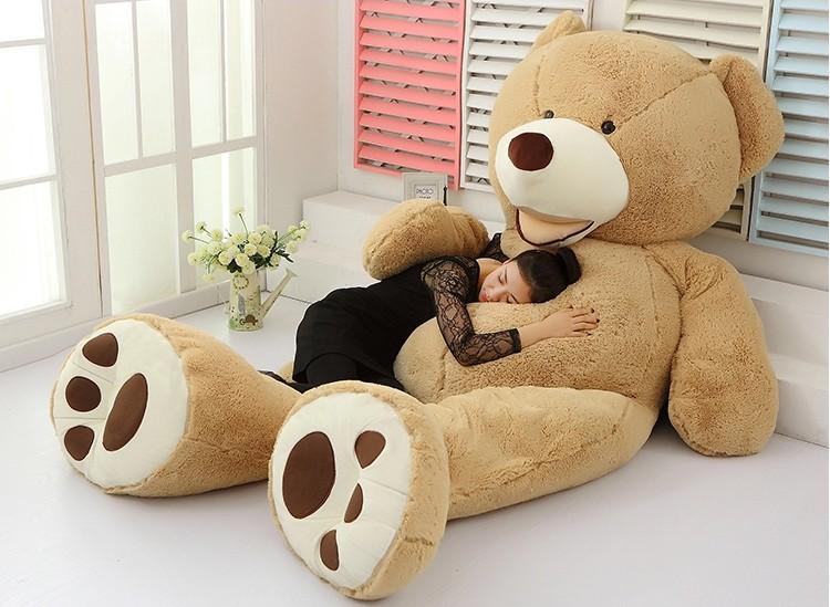 1 Pcs 100cm Giant Teddy Bear Plush Toy Life Size Teddy