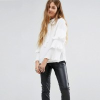 Popular White Tie Neck Blouse-Buy Cheap White Tie Neck ...