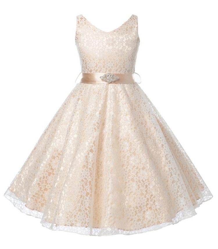 girls party wear dress kids 2015 flower lace children