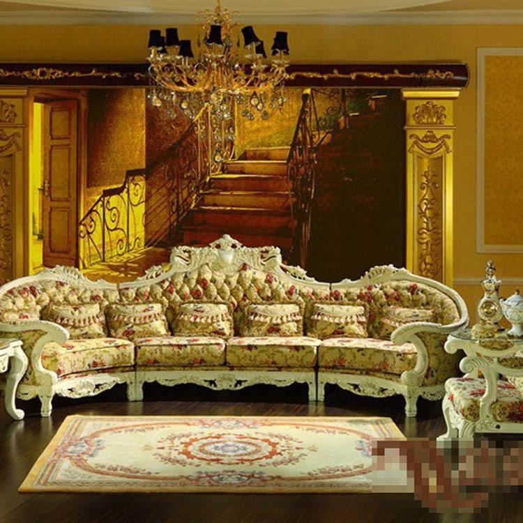 Palace luxury furniture European classical solid wood sofa