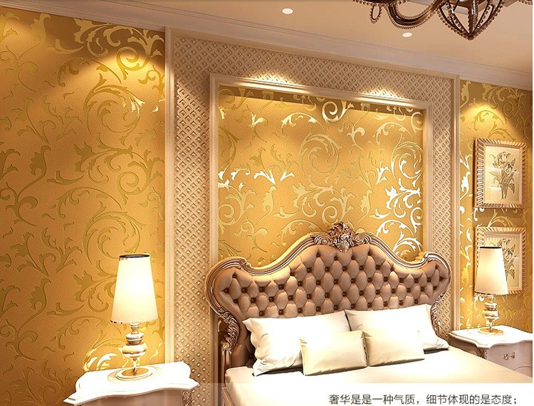simple tv panel design for living room wall paper wholesale genuine victorian glitter wallpaper 3d silver ...