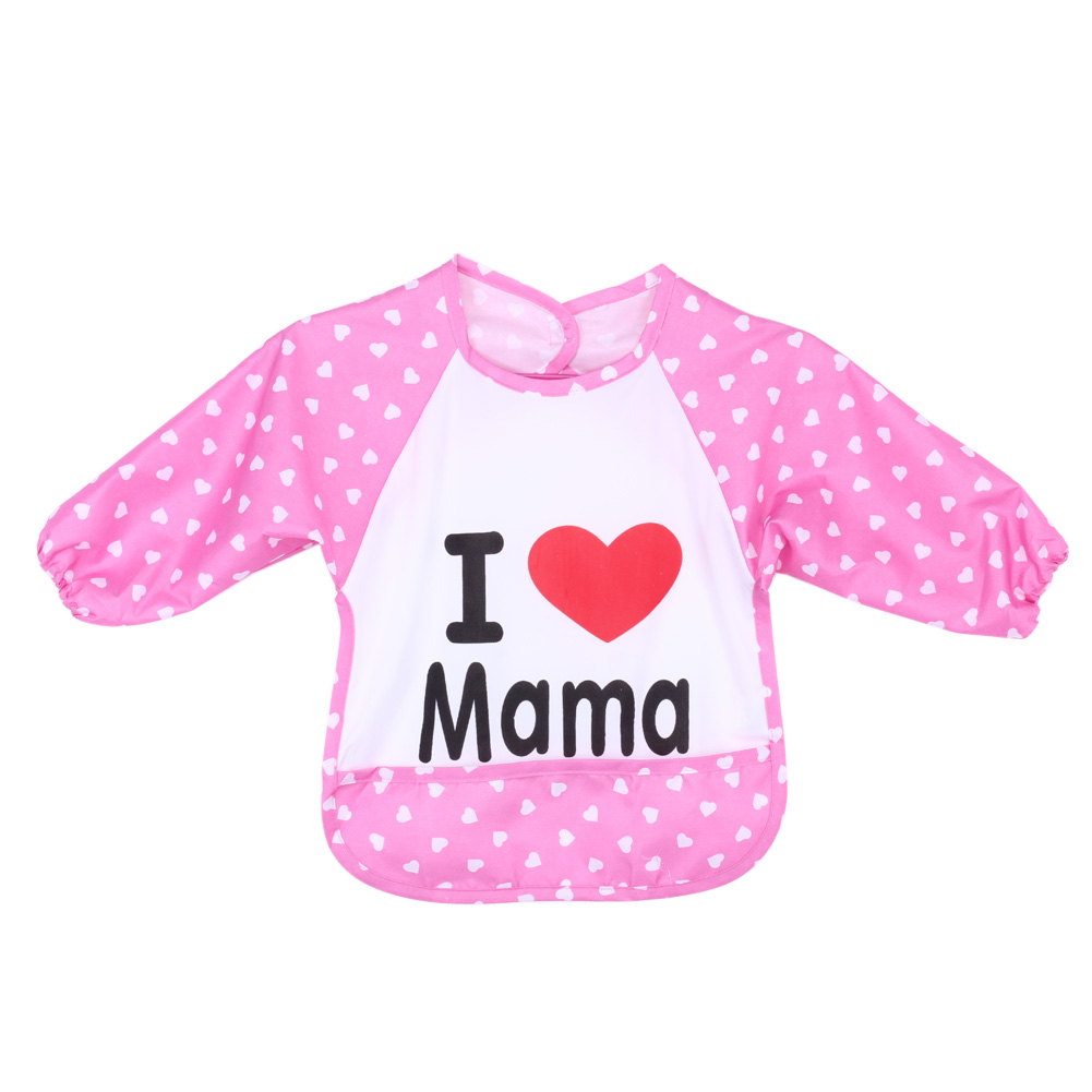 ᑐ10 Colors Baby Bibs TPU Waterproof Knitted Fabric Overclothes Baby ...