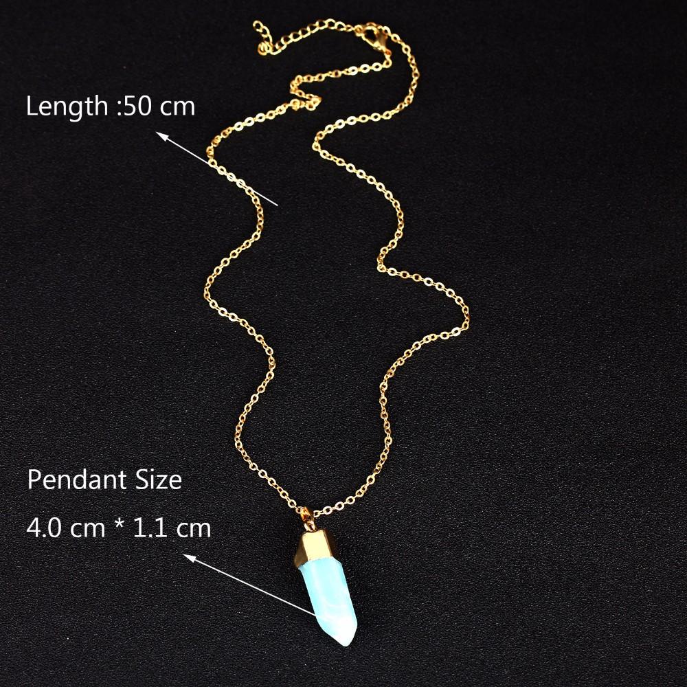 4b1e7216c126 ᗖNuevo collar largo mujeres azul claro piedra Colgantes gargantilla ...
