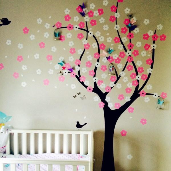 Cherry Blossom Tree Vinyl Decal