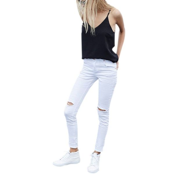 White Capris Juniors - Breeze Clothing