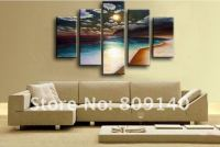 free shipping oil painting canvas Beach Sea Scenery Modern ...
