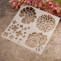 plastic painting drawing& color spray painted flower ...