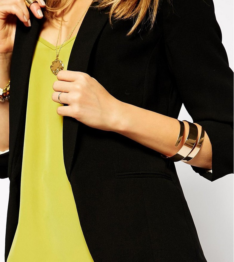 ⑦Mode Simple Brassards Bracelets Exagéré Punk Alliage Femmes Bijoux ... 66c2c89bc2ec