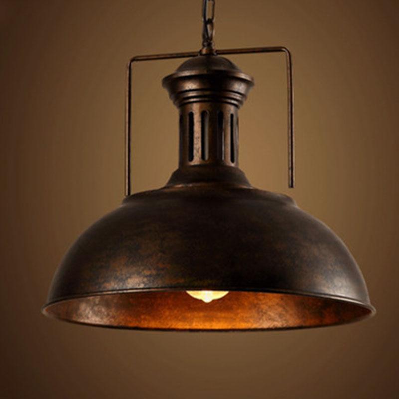 Edison vintage industrial lamp shade chain pendant light