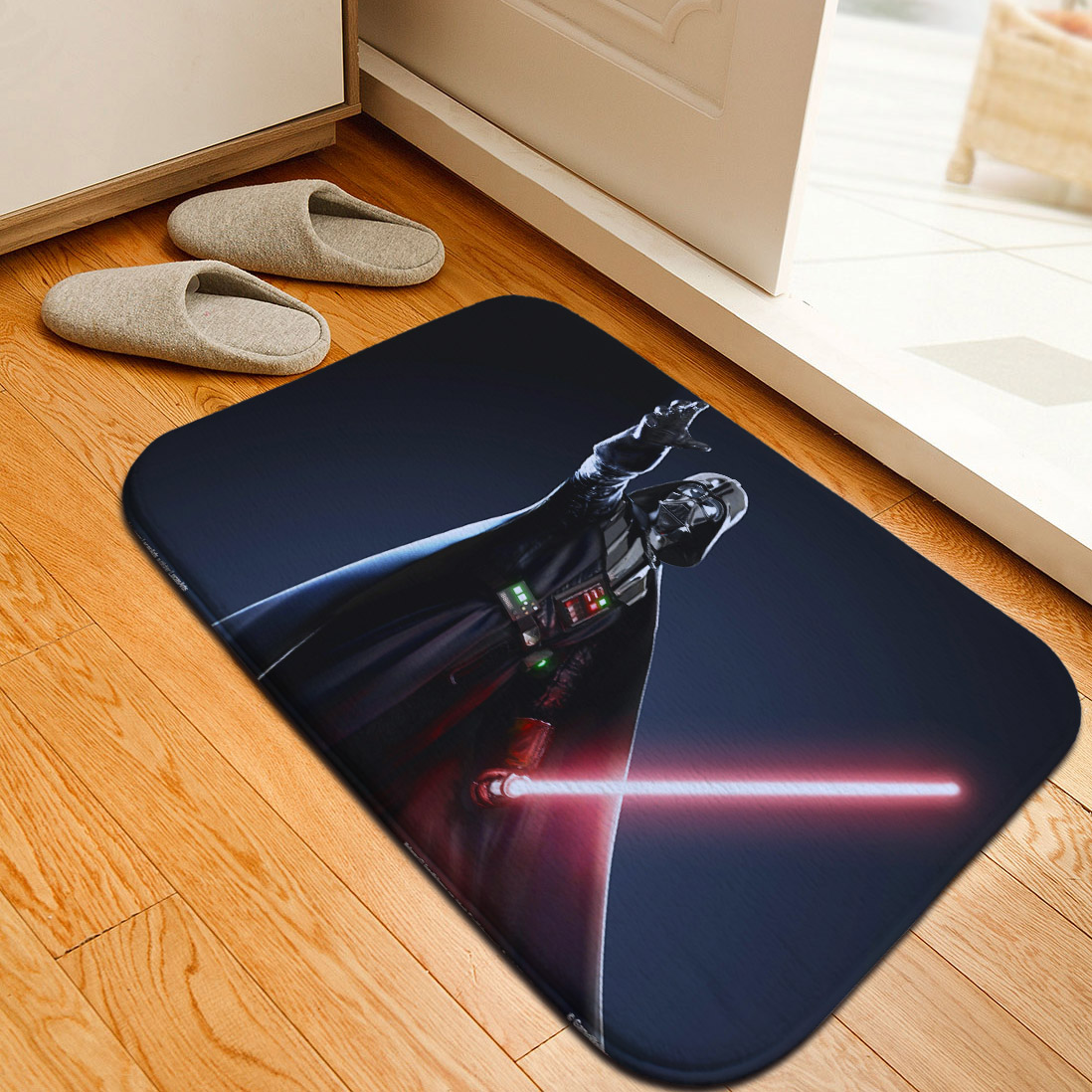 Mats Anti Slip Floor Mat Star Wars Yoda Stormtroopers Printed Pattern Carpet  Rug For Bathroom Door Living Room