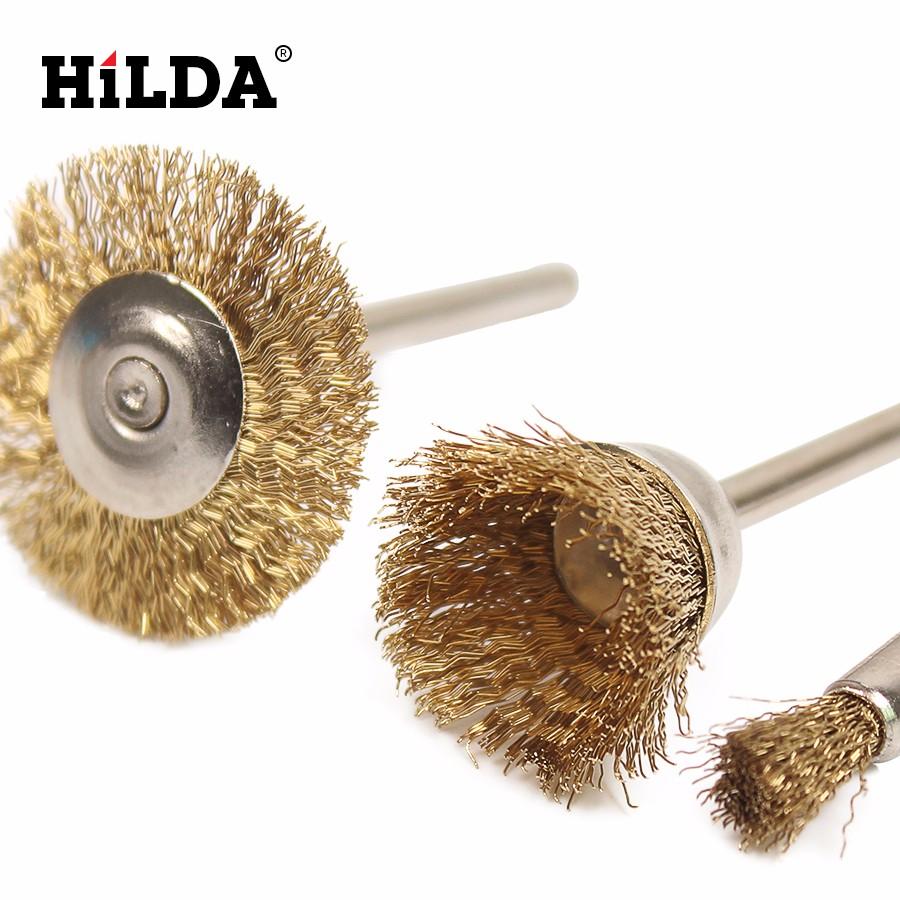 HILDA 20 stücke Messing Stahl dremel draht Pinsel Set dremel ...