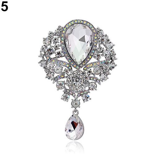 №Женская Мода Роскошные Tear Drop кулон горный хрусталь свадебное ... a90ad41bd3f