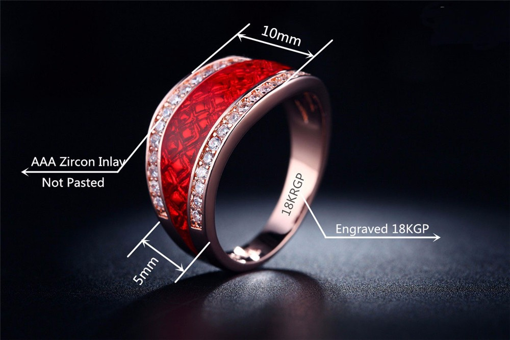673b52d7e234 ... 6-Sterling Silver Jewelry Wholesale 18K Rose Gold Plated For Women  Engagement Wedding Ring CZ ...