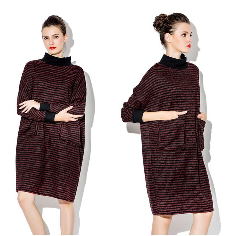ツ)_/¯Women Knitted Dress Winter Autumn Long Sleeve Pregnant ...