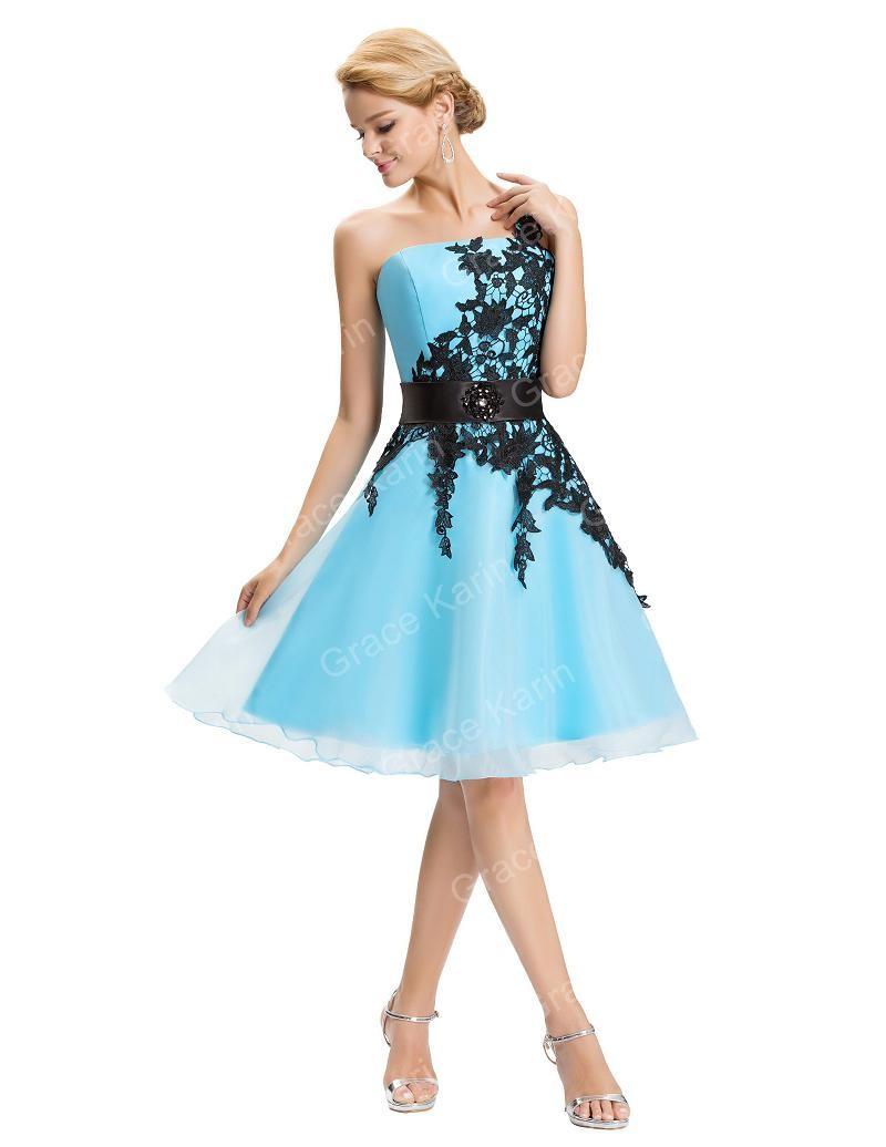 ▽Bridesmaid Dresses 2018 Grace Karin royal blue Lace One shoulder ...