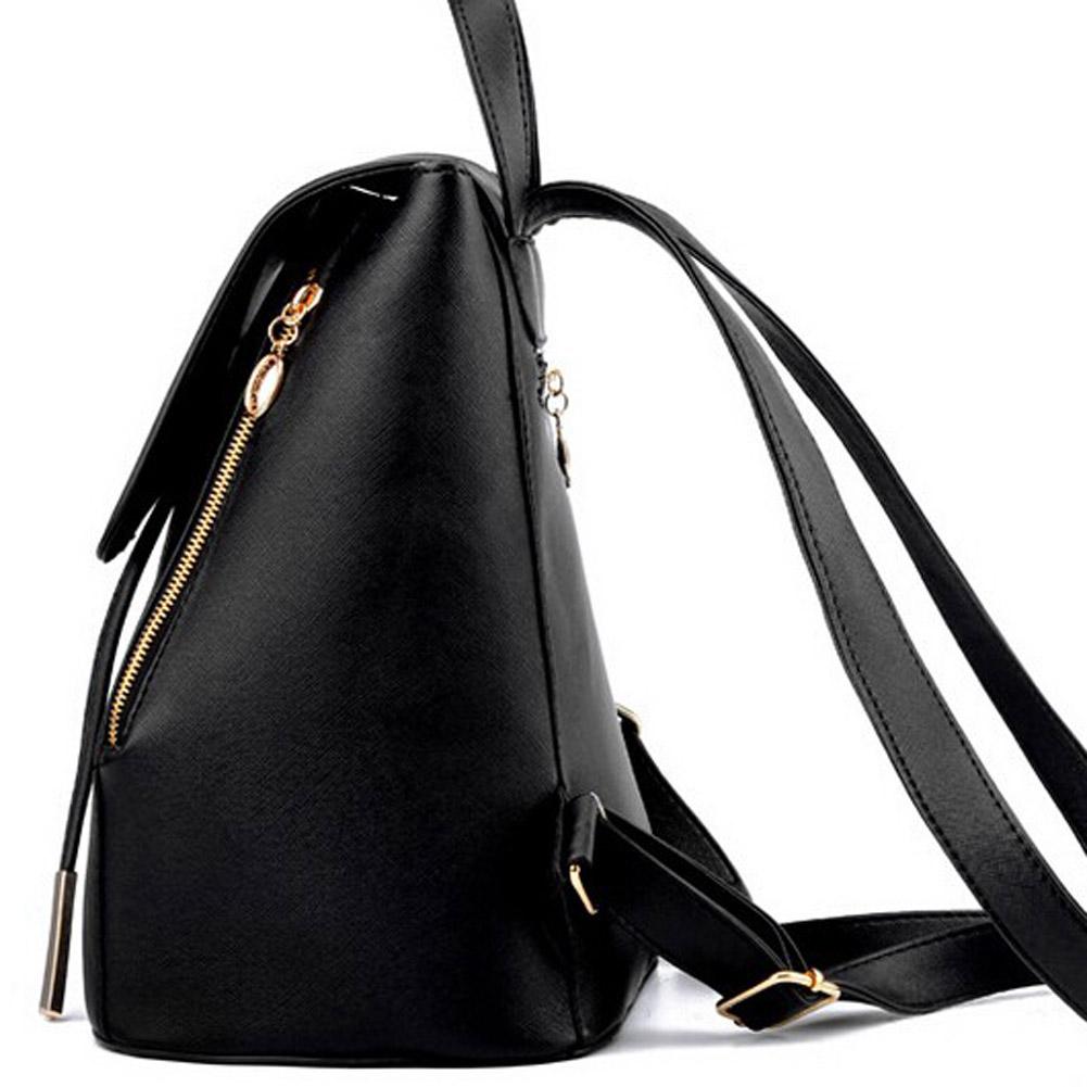 PU кожаный рюкзак школьный мешок студенческий рюкзак женский дорожная сумка 70572f822e3