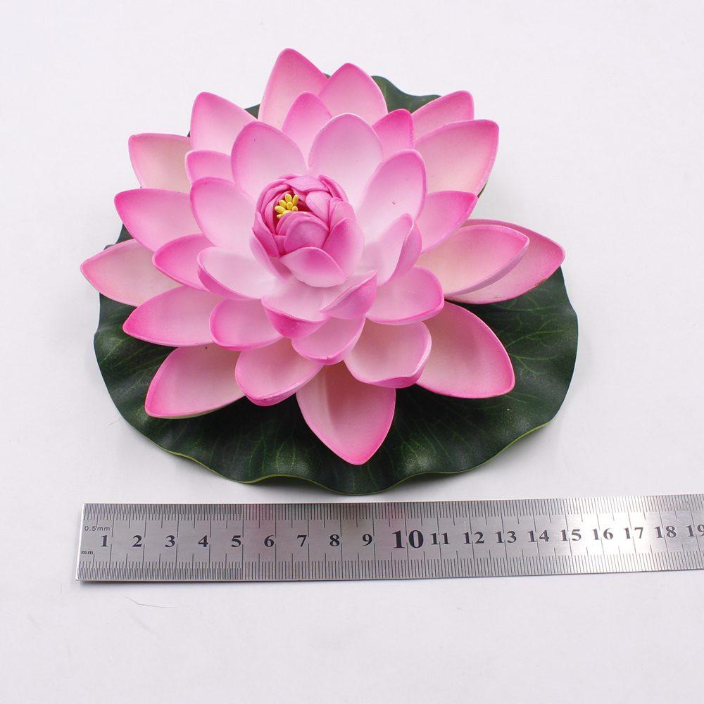 ᗖ10PCS/lot 17CM Decor Garden Artificial Fake Lotus Flower Foam ...
