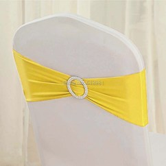 Yellow Spandex Chair Sashes Relax The Back Chairs Reviews Wholesale High Quality 12 Band With Buckle