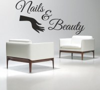 Nail Salon Vinyl Wall Decal Nails & Beauty Salon Varnish ...