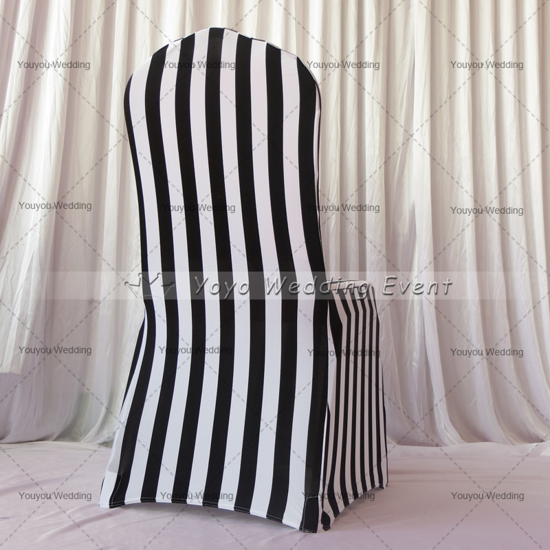 wedding chair covers alibaba gym spares white and black stripe print spandex cover-in cover from home & garden on aliexpress ...